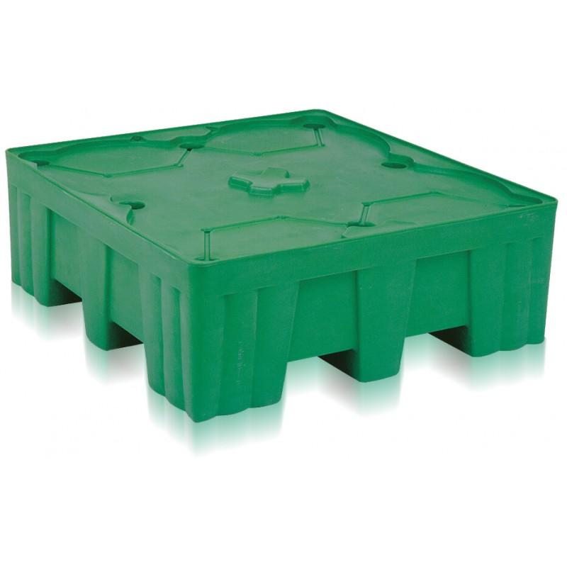 Palette en plastique rétention 4 fûts 450 litres VSA07