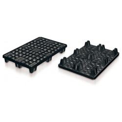 Palette Packpal ajourée emboîtable 9 pieds 1200x800 mm noire