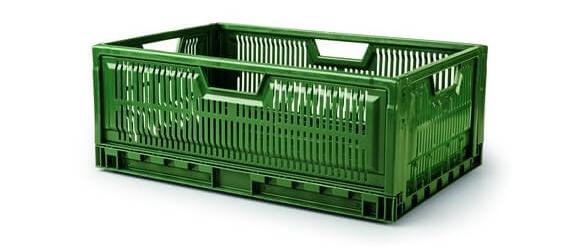 Caisse plastique pliable